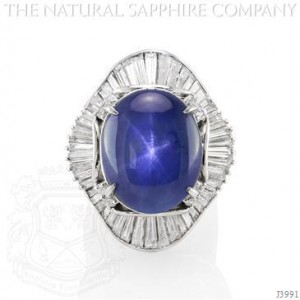 Natural Oval Blue Sapphire Cocktail Ring