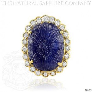 Flower Blue Sapphire Cocktail Ring