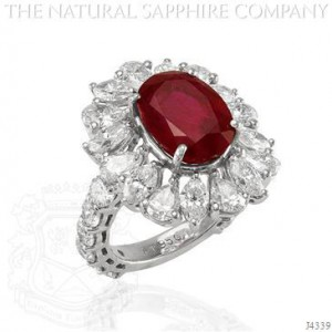 Natural Ruby Cocktail Ring