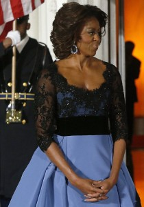 michelle obama and her sapphires