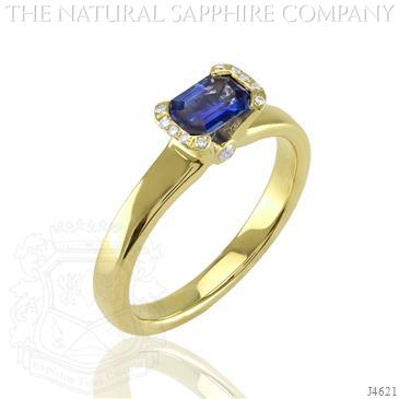 natural_sapphire_jewelry_ring_emerald cut_blue - Design Your Wedding Ring