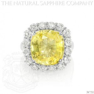 10.31ct GIA certified untreated yellow sapphire engagement ring