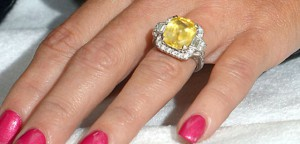 A Beautiful 10 carat Yellow Sapphire Engagement Ring - Donnie Wahlbergs' got great taste!