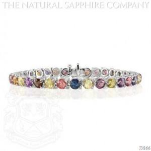 15.23ctw Untreated Rainbow Sapphire Bracelet