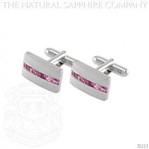 Natural_Sapphire_Jewelry_Cufflinks_Princess-Cut_Pink