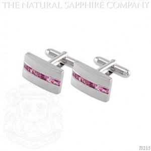 sapphire cuff links pink