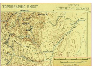 Antique Yogo Montana Map