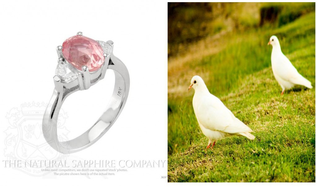 Our 3.14 Ct.Oval Padparadscha & Diamond Ring