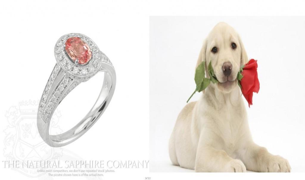 Oval-Padparadscha-Diamond-Ring