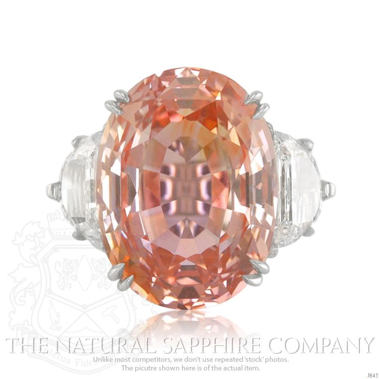 Our 28.85 Ct. Oval Padparadscha Ring