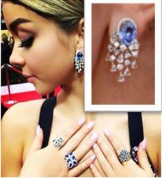 Sarah Hyland and her sapphire jewelry
