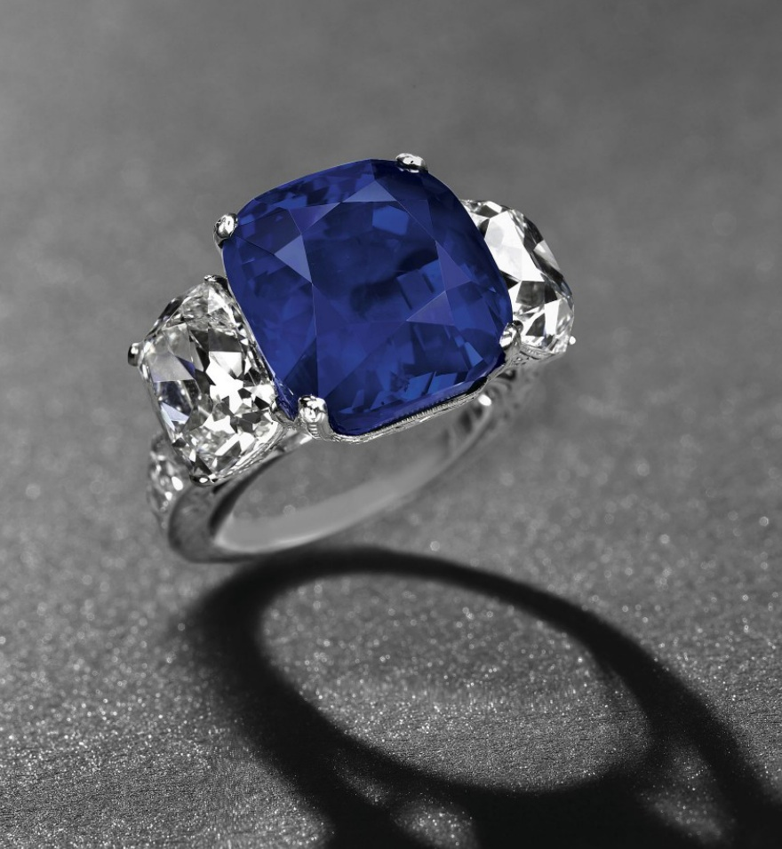 ring sapphire encrusted montana engagement carat setting diamond