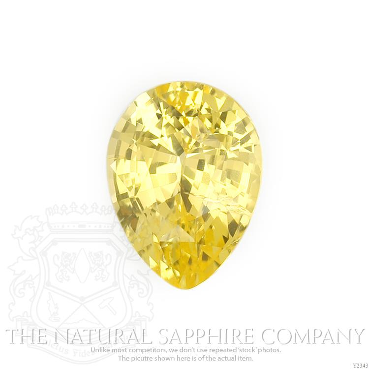 A natural untreated Ceylon Pear yellow sapphire
