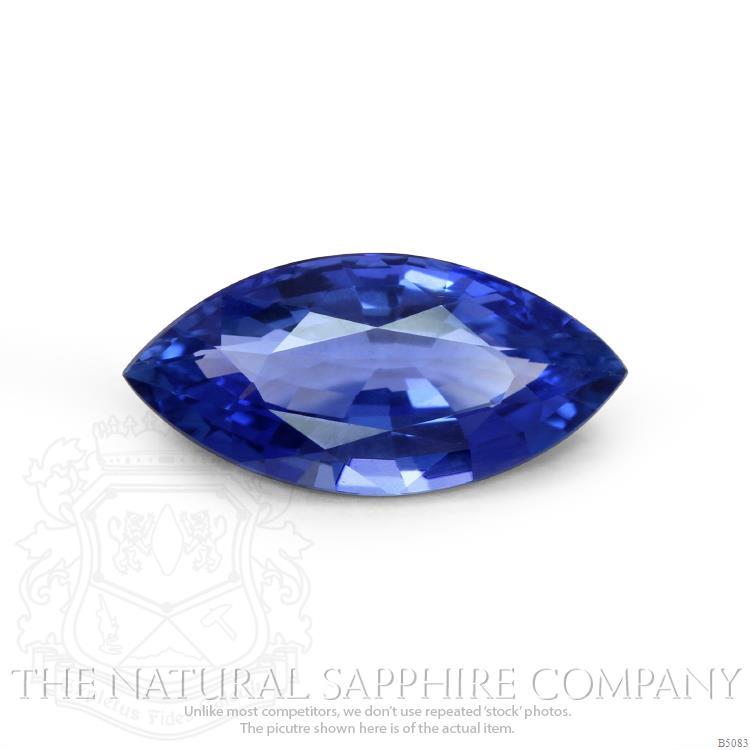 A natural untreated Ceylon Marquise blue sapphire