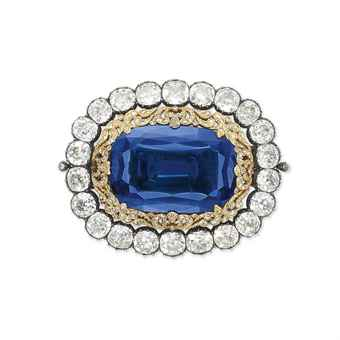 sapphire_and_diamond_brooch