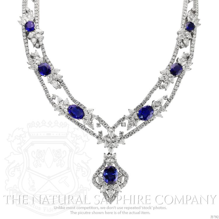 silver mo products flower sapphire light created image product blue sterling necklace