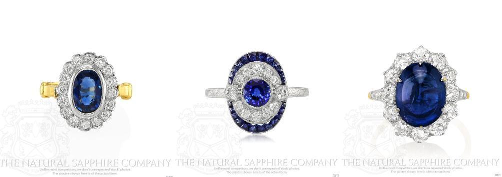 Vintage-Antique-Blue-Sapphire-Rings