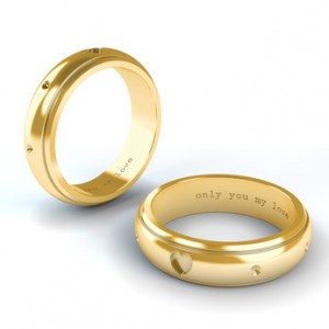 engraved engagment rings - Wedding Ring Inscriptions