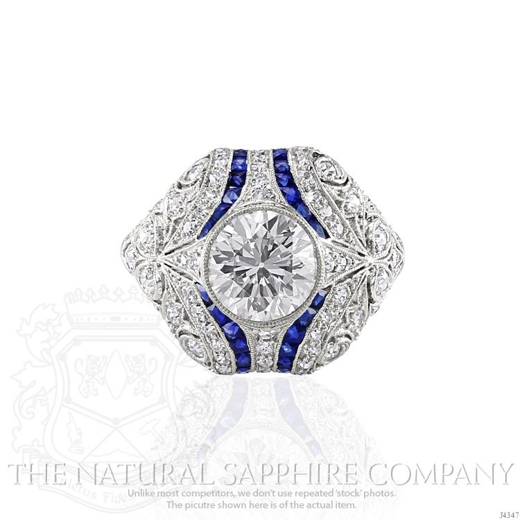 round-colorless-diamond-estate-ring