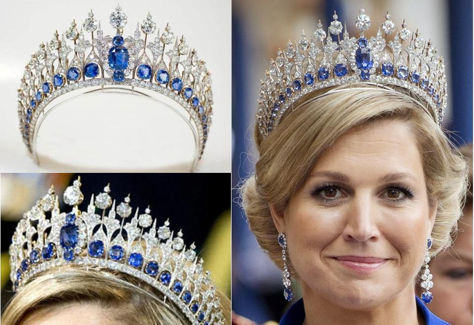 Dutch,Sapphire,Crown. Dutch Sapphire Tiara