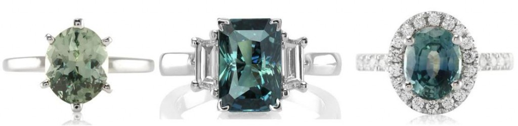 Green-Sapphire-Engagment-Rings-In-Settings