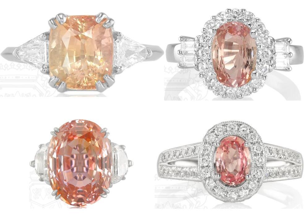 Padparadscha-sapphire-engagment-rings