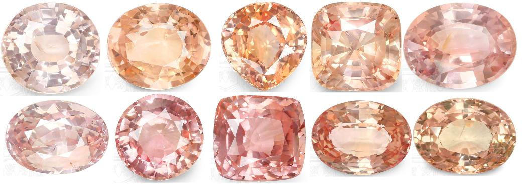 array-of-peach-colored-sapphire-tones