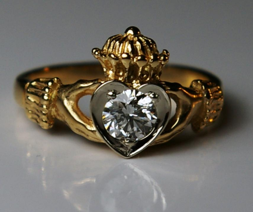 claddagh bands metals clatter irish rings beveled forever