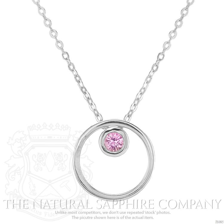 18 amazing sapphire jewelry gifts for mom under 1000 double circle pink sapphire pendant 02000 cts j3085 mozeypictures Gallery