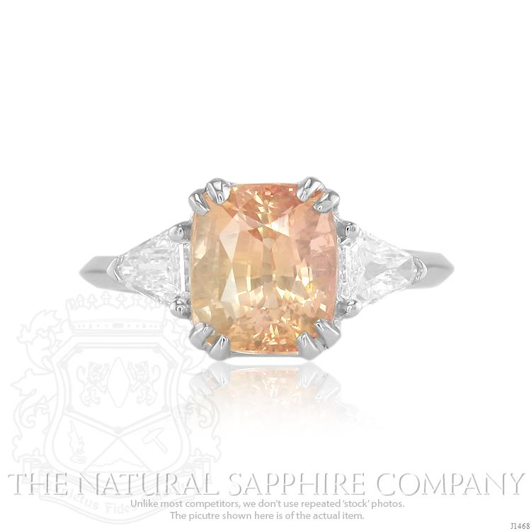 Peach sapphire why peach is hot for engagement rings junglespirit Choice Image