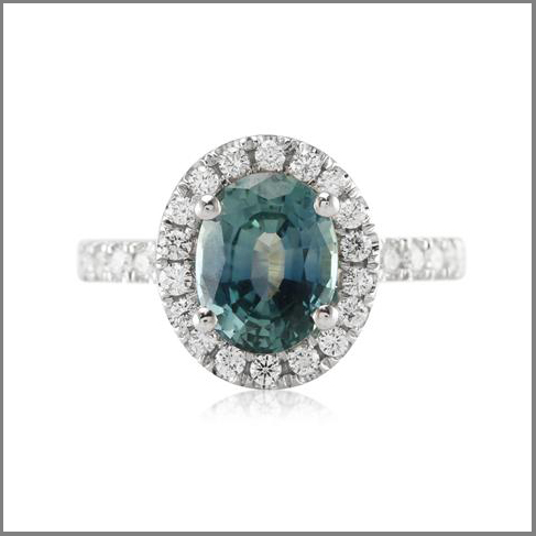 Blue Green Sapphire Engagement Rings The Natural