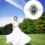 bride with a monatana sapphire ring