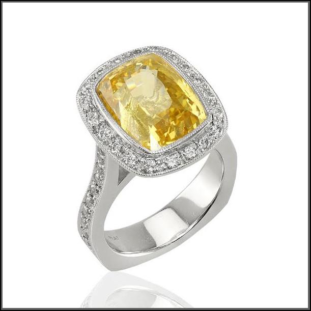 Joanne C yellow sapphire