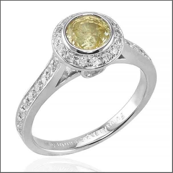 Susan piguet- yellow sapphire ring