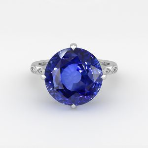 blue sapphire engagement ring rendering