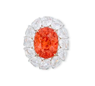 28.04 carat padparadscha sapphire