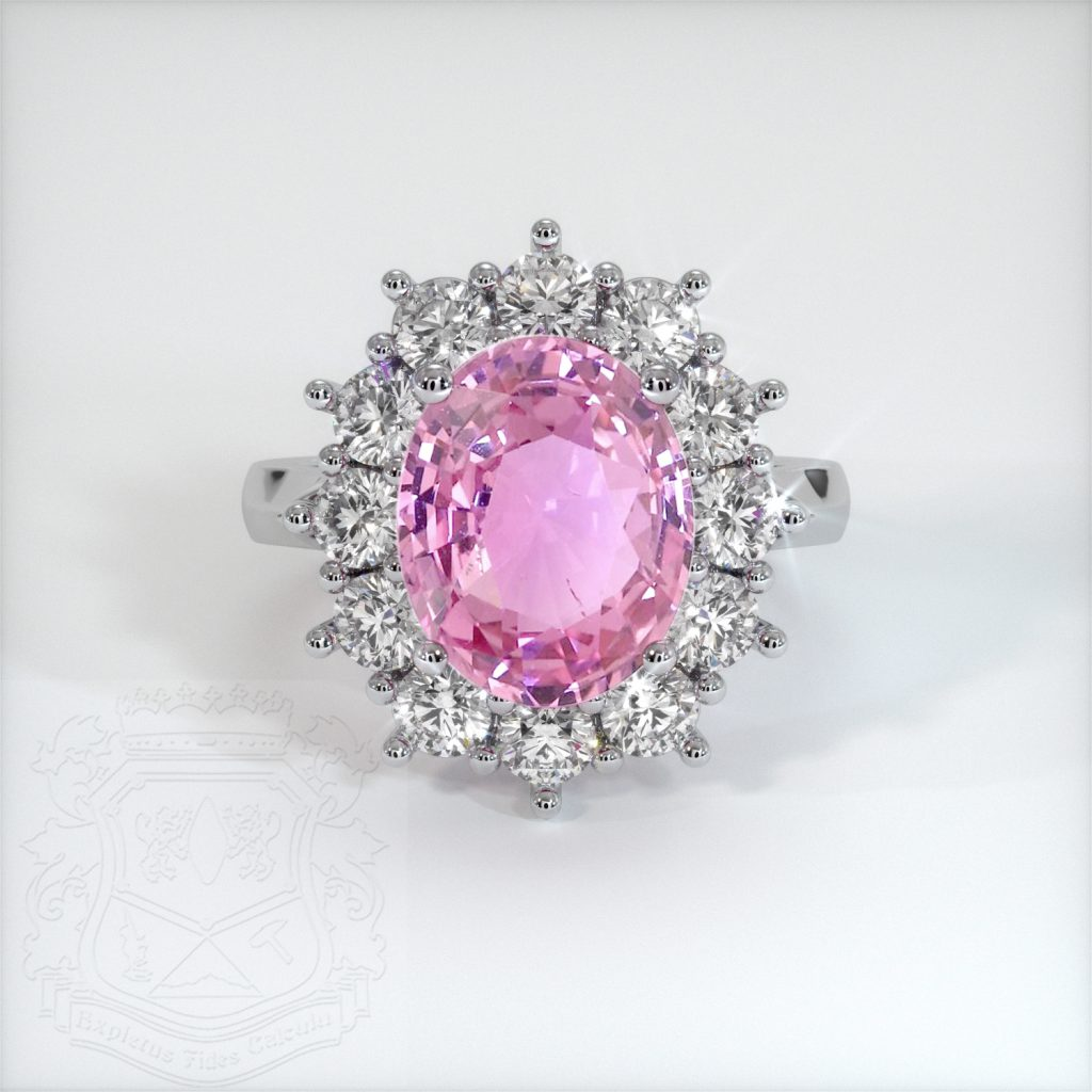 lady gaga pink sapphire engagement ring