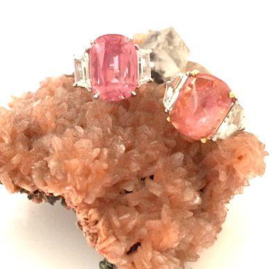 living coral pantone sapphire gemstones