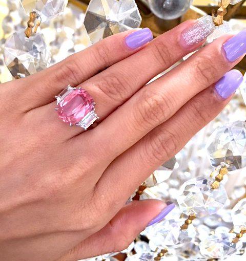 padparadscha sapphire coral color
