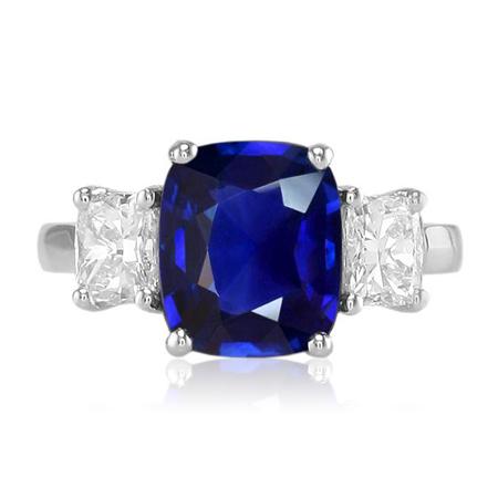 Burma natural blue sapphire ring