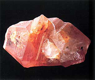 Sri Lankan padparadscha sapphire crystal