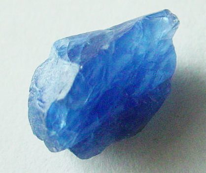 blue sapphire rough crystal