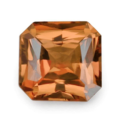 orange radiant cut sapphire