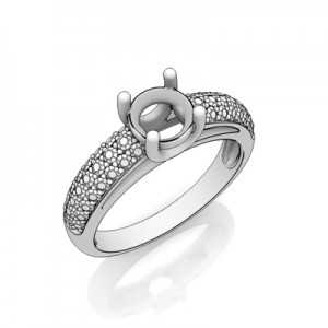 A pave ring setting
