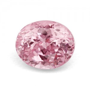 A beautiful light pink sapphire
