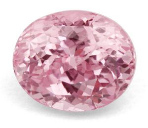 light pink cushion cut sapphire