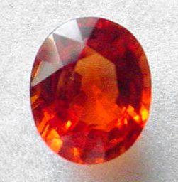 reddish orange sapphire Tanzania