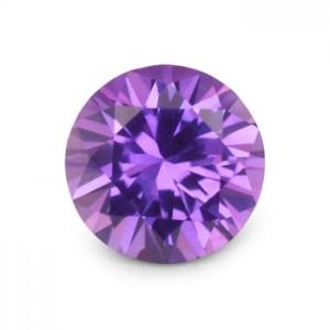 round purple sapphire