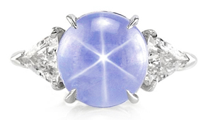 star sappphire blue ring
