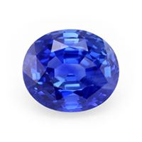 69 carat oval blue natural sapphire